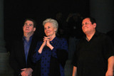 Angel City Photo - Ralph Garman Lee Meriwether Burt Wardat the Bat Signal Lighting Ceremony to honor Adam West Los Angeles City Hall Los Angeles CA 06-15-17