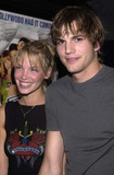 Ashley Scott Photo -  Ashton Kutcher and Ashley Scott at the premiere of Dimensions Jay and Silent Bob Strike Back at Manns Bruin Theater 08-15-01