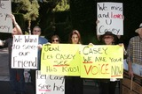 Casey Kasem Photo - Ted Ball Tom Rounds Barbara Rounds Rana Makarem Eilene Olsenat a protest involving Casey Kasems children brother and friends who want to see him but have been denied any contact  Private Location Holmby Hills CA 10-01-13
