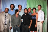 Adam Baldwin Photo - Chuck Cast ( Mark Christopher Lawrence Zach Levi Vik Sahay Adam Baldwin Joshua Gomez Scott Krinsky Sarah Lancaster  Ryan McPartlin) arriving at the NBC TCA Party at The Langham Huntington Hotel  Spa in Pasadena CA  on August 5 2009