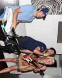 Ashley Campbell Photo - Zach Levi Joshua Gomez Ashley CampbellChuck Kickoff party presented by Guitar Hero FiveRoosevelt Hotel Pool Los Angeles  CAOctober 10  2009