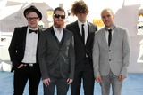 Andy Hurley Photo - LOS ANGELES - FEB 11  Patrick Stump Andy Hurley Joe Trohman Pete Wentz Fall Out Boy at the MTV Movie Awards 2015 at the Nokia Theater on April 11 2015 in Los Angeles CA