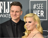 Gallagher Photo - LOS ANGELES - JAN 12  Brian Gallagher Megan Hilty at the Critics Choice Awards 2020 at the Barker Hanger on January 12 2020 in Santa Monica CA