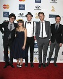 The Lumineers Photo - LOS ANGELES - FEB 9  The Lumineers - Stelth Ulvang Neyla Pekarek Jeremiah Fraites Wesley Schultz Ben Wahamaki arrives at the Clive Davis 2013 Pre-GRAMMY Gala at the Beverly Hilton Hotel on February 9 2013 in Beverly Hills CA