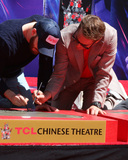 CAST MEMBER Photo - LOS ANGELES - APR 23  Chris Evans Robert Downey Jr at the Avengers Cast Members Handprint Ceremony at the TCL Chinese Theater on April 23 2019 in Los Angeles CA