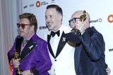 David Furnish Photo - LOS ANGELES - FEB 9  Elton John David Furnish Bernie Taupin at the 28th Elton John Aids Foundation Viewing Party at the West Hollywood Park on February 9 2020 in West Hollywood CA