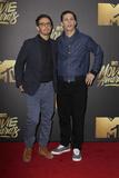 Andy Samberg Photo - LOS ANGELES - APR 9  Joma Taccone Andy Samberg at the 2016 MTV Movie Awards Arrivals at the Warner Brothers Studio on April 9 2016 in Burbank CA