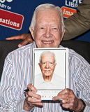 President Jimmy Carter Photo - PHILADELPHIA PA USA - JULY 10 Former President Jimmy Carter Signs His New Book A Full Life Reflections at Ninety at The Free Library of Philadelphia on July 10 2015 in Philadelphia Pennsylvania United States (Photo by Paul J FroggattFamousPix)