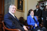 Harry Reid Photo - Washington DC 5122010RESTRICTED NEW YORKNEW JERSEY OUTNO NEW YORK OR NEW JERSEY NEWSPAPERS WITHIN A 75 MILE RADIUS OF NEW YORK CITYSupreme Court Nominee Elena Kagan on Capitol HillSupreme Court nominee Elena Kagan visits Senate majority leader Harry Reid (D-NV) on Capitol HillDigital photo by Elisa Miller-PHOTOlinknet