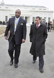 David A Paterson Photo - Washington DC - February 22 2009 -- Governor David A Paterson (Democrat of New York) right departs with an unidentified aide left after he and his fellow governors met United States President Barack ObamaPhoto by Ron Sachs-CNP-PHOTOlinknet