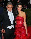 Amal Clooney Photo - Photo by XPXstarmaxinccomSTAR MAX2015ALL RIGHTS RESERVEDTelephoneFax (212) 995-11965415Amal Clooney and George Clooney at the 2015 Costume Institute Benefit Gala - China Through The Looking Glass(Metropolitan Museum of Art NYC)
