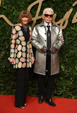 Anna Wintour Photo - Photo by KGC-03starmaxinccomSTAR MAXCopyright 2015ALL RIGHTS RESERVEDTelephoneFax (212) 995-1196112315Anna Wintour and Karl Lagerfeld at the 2015 British Fashion Awards(London England UK)