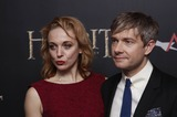 Amanda Abbington Photo - Photo by John M Mantelstarmaxinccom12612(NYC)Amanda Abbington and Martin Freeman arrive at The Hobbit movie premiere