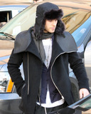 30 Seconds to Mars Photo - Jared Leto dons a furry winter hat for a trip out to Barneys New York during the last busy shopping days before Christmas  Jared who waved to photographers also wore a warm wool jacket with a unique leather lapel and dressed down in harem sweatpants  The actor and musician will soon be back on the road after taking a break over Christmas as his band 30 Seconds to Mars will be playing a New Years Eve concert at The Pearl Theater in Las Vegas and in January will begin a winter US tour  Los Angeles CA 122310