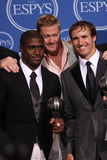 Jeremy Shockey Photo - Reggie Bush Jeremy Shockey and Drew Brees pose with their Best Team award at the 2010 ESPY Awards held at Nokia Theatre LA Live on a sizzling hot day Los Angeles CA 071410