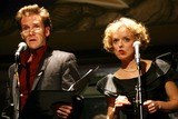 Malcolm Gets Photo - MALCOLM GETS AND NANCY ANDERSON PERFORMING AT THE 2006 FRED EBB AWARD COCKTAIL RECEPTION HONORING MUSICAL THEATRE SONGWRITING TEAM STEVEN LUDVAK AND ROBERT FREEDMAN IN THE PENTHOUSE LOUNGE AT THE AMERICAN AIRLINES THEATRE IN NEW YORK CITY ON 11-28-2006  PHOTO BY HENRY McGEEGLOBE PHOTOS INC 2006K50903HMc