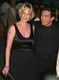 Melanie Griffith Photo - Melanie Griffith and Antonio Banderas Arriving at a Special Screening of Shrek 2 at the Beekman Theatre in New York City on May 17 2004 Photo by Henry McgeeGlobe Photos Inc 2004