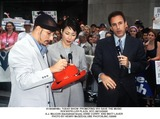 AJ MCLEAN Photo -  Today Show Promoting Vh1 Save the Music Rockefeller Plaza NYC 06122000 Aj Mclean (Backstreet Boys) Anne Curry and Matt Lauer Photo by Henry McgeeGlobe Photosinc