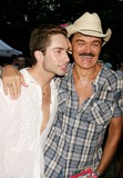 MICHAEL LUCAS Photo - Michael Lucas and Randy Jones at Wigstock 2005 at Tompkins Square Park in New York City on 08-27-2005 Photo by Henry McgeeGlobe Photos Inc 2005