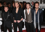 Andy Brown Photo - Feb 19 2014 - London England UK - Brit Awards 2014 O2 Arena LondonPictured (L to R) Adam Pitts Ryan Fletcher Joel Peat and Andy Brown of Lawson