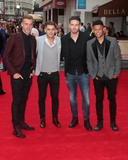 Alex Oxlade-Chamberlain Photo - August 20 2015 - Calum Chambers (L) and Alex Oxlade-Chamberlain (R) with 2 friends in centre attending the The Bad Education Movie World Premiere at Vue West End in London UK