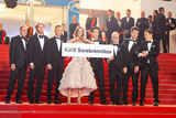 Thierry Fremaux Photo - CANNES FRANCE - MAY 9 Pierre Lescure Ilya Stewart Roman Bilyk Irina Starshenbaum Teo Yoo Thierry Fremaux Charles-Evrard Tchekhoff Vladislav Opelyants Kirill Serebrennikov attend the screening of Leto during the 71st annual Cannes Film Festival at Palais des Festivals on May 9 2018 in Cannes France(Photo by Laurent KoffelImageCollectcom)