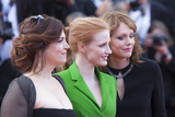 The Features Photo - CANNES FRANCE - MAY 21 Member of the Feature Film jury Agnes Jaoui actress and member of the Feature Film jury Jessica Chastain and member of the Feature Film jury Maren Ade attends the The Meyerowitz Stories screening during the 70th annual Cannes Film Festival at Palais des Festivals on May 21 2017 in Cannes France(Photo by Laurent KoffelImageCollectcom)