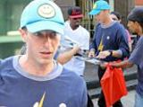 Coldplay Photo - July 17 2016  Singer Chris Martin was swarmed by fans in New York City New York The Coldplay frontman sported a blue cap with a smiley face and a lightning bolt printed sweater  Non Exclusive UK RIGHTS ONLY  Pictures by  FameFlynet UK  2016 Tel  44 (0)20 3551 5049 Email  infocopyrightfameflynetukcom