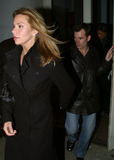 NASCAR DRIVERS Photo - NASCAR driver Jeff Gordon and his lovely wife arrive at a downtown restaurant for the Saturday Night Live after-party The NASCAR star hosted this weeks eposode of SNL New York January 11 2003