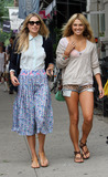 Ashley Hart Photo - July 19 2012 New York CityModels Jessica (L) and Ashley Hart walk in Soho on July 19 2012 in New York City