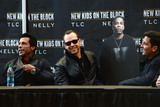 New Kids on the Block Photo - January 20 2015 New York CityDanny Wood Donnie Wahlberg and Jonathan Knight with a Nelly cut out attending a New Kids on The Block Press Conference at Madison Square Garden on January 20 2015 in New York City By Line Kristin CallahanACE PicturesACE Pictures Inctel 646 769 0430