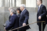 Anne Sinclair Photo - Former IMF director Dominique Strauss-Kahn leaving the Manhattan State Supreme Court with his wife Anne Sinclair on August 23 2011 in New York City The criminal sexual assault charges against Strauss-Kahn were dropped