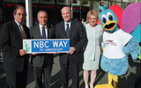 Andy Lack Photo - (L to R) President of NBC Andy Lack Mayor of New York Michael Bloomberg Vice Chairman and CEO of NBC Bob Wright and Suzanne Wright rename 49th Street to NBC Way Street in New York to celebrate NBCs 75th Anniversary May 3 2002