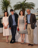Aisling Franciosi Photo - Director Ken Loach (right) with actors Aisling Franciosi (left) Barry Ward  Simone Kirby at the photocall for their movie Jimmys Hall at the 67th Festival de CannesMay 22 2014  Cannes FrancePicture Paul Smith  Featureflash