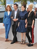 Amira Casar Photo - Lea Seydoux (left) Gaspard Ulliel Amira Casar  Aymeline Valade at photo call for their movie Saint-Laurent at the 67th Festival de CannesMay 17 2014  Cannes FrancePicture Paul Smith  Featureflash