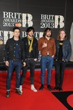 The Vaccines Photo - The Vaccines arrives for the Brit Awards 2013 at the O2 Arena Greenwich London 20022013 Picture by Steve Vas  Featureflash