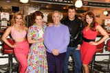 Amy Anzel Photo - Heidi Range Cheryl Baker Henry Winkler Ben Freeman and producer Amy Anzel at the photocall for Happy Days The Musical at Eds Easy Diner Trocadero London 08012014 Picture by Steve Vas  Featureflash