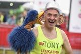 Tony Audenshaw Photo - Tony Audenshaw at the start of the 2015 London Marathon Blackheath Common Greenwich London 26042015 Picture by Steve Vas  Featureflash