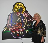 Amanda Eliasch Photo - Amanda Eliasch at reception for her neon art exhibition Peccadilloes at the Leadapron Gallery West HollywoodJune 16 2011  Los Angeles CAPicture Paul Smith  Featureflash