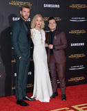 Jennifer Lawrence Photo - Actress Jennifer Lawrence  actors Liam Hemsworth  Josh Hutcherson (right) at the Los Angeles premiere of their movie The Hunger Games Mockingjay - Part 2 at the Microsoft Theatre LA Live November 16 2015  Los Angeles CAPicture Paul Smith  Featureflash