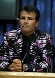 Joan Laporta Photo - FC Barcelona President Joan Laporta speaks during a press conference announcing Brazilian soccer star Ronaldinho as a United Nations Spokesperson for Sport for Development and Peace August 11 2006 at United Nations in New York City