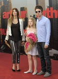 Anais Gallagher Photo - London UK Noel Gallagher and Sara McDonald with Anais Gallagher at the European premiere of Arthur at Cineworld 02 Arena 19th April 2011SydLandmark Media