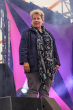 Sandy Toksvig Photo - Southwold Suffolk Sandi Toksvig presents a special live edition of the BBC panel show QI with Alan Davies Lou Conran Rachel Parris and Marcus Brigstocke in the Comedy Arena at Henham Park near Southwold Suffolk 13th July 2018Ref LMK73-J2315-160718Keith MayhewLandmark MediaWWWLMKMEDIACOM