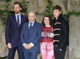 Tom   Hiddleston Photo - London UK Tom Hiddleston Nick Park Maisie Williams and Eddie Redmayne at Early Man UK Film Premiere at the BFI IMAX Waterloo London on January 14th 2018Ref  LMK73-J1385-150118Keith MayhewLandmark MediaWWWLMKMEDIACOM
