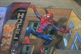 Julian Beever Photo - London 3D pavement chalk drawing of Spiderman by artist Julian Beever for the release of the new Spiderman X-Box game16 October 2005Art KarinaLandmark Media