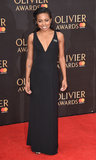 Adrienne Warren Photo - London UK Adrienne Warren at The Olivier Awards 2018 held at The Royal Albert Hall Kensington Gore South Kensington London on Sunday 8 April 2018Ref LMK392-J1868-090418Vivienne VincentLandmark Media WWWLMKMEDIACOM