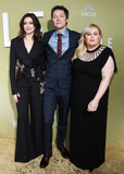 Rebel Wilson Photo - HOLLYWOOD LOS ANGELES CALIFORNIA USA - MAY 08 Anne Hathaway Chris Addison and Rebel Wilson arrive at the Los Angeles Premiere Of MGMs The Hustle held at ArcLight Cinerama Dome on May 8 2019 in Hollywood Los Angeles California United States (Photo by David AcostaImage Press Agency)