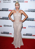 Azzedine Alaia Photo - BEVERLY HILLS LOS ANGELES CA USA - NOVEMBER 29 Actresssinger Lady Gaga wearing an Azzedine Alaia dress and Amwaj diamond earrings arrives at the 32nd Annual American Cinematheque Awards Gala held at The Beverly Hilton Hotel on November 29 2018 in Beverly Hills Los Angeles California United States (Photo by Xavier CollinImage Press Agency)
