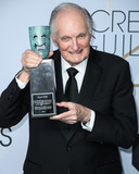 Alan Alda Photo - LOS ANGELES CA USA - JANUARY 27 Actor Alan Alda recipient of the SAG Life Achievement Award poses in the press room at the 25th Annual Screen Actors Guild Awards held at The Shrine Auditorium on January 27 2019 in Los Angeles California United States (Photo by Xavier CollinImage Press Agency)