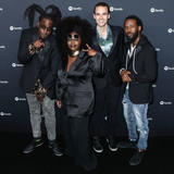 Tank Photo - WEST HOLLYWOOD LOS ANGELES CALIFORNIA USA - JANUARY 23 Norman Spence Joshua Johnson Tarriona Tank Ball Allenbeck Etienne and Allenbeck Etienne of Tank and the Bangas arrive at the Spotify Best New Artist 2020 Party held at The Lot Studios on January 23 2020 in West Hollywood Los Angeles California United States (Photo by Xavier CollinImage Press Agency)